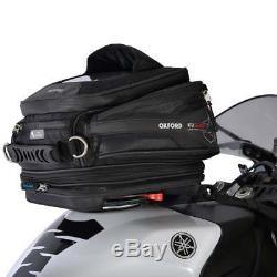 Oxford Q15r Qr Dégagement Rapide Universel Moto Vélo Sac De Réservoir Noir