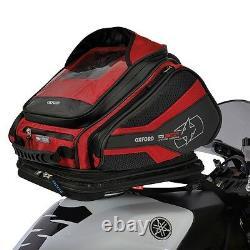 Oxford Q30r Magnétique Rouge À Vie Moto Sacoche De Réservoir Sac À Dos Bagages Ol271