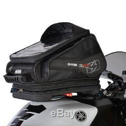 Oxford Q30r Noir Moto Sacoche De Réservoir Léger À Dégagement Rapide Pour Moto