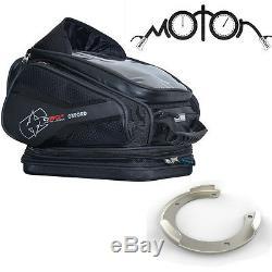 Oxford Q30r Sacoche De Réservoir Magnétique Bagage Moto + Adaptateur Kawasaki Quick Lock