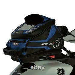 Oxford Q4r Motorcycle Tank Bag Lifetime Quick Release Moto Bagages Bleu