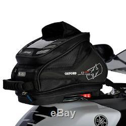 Oxford Q4r Noir Moto Moto Moto Léger Dégagement Rapide Sac De Réservoir