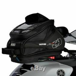 Oxford Q4r Quick Release Moto Moto Bagages Réservoir Sac Noir