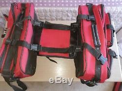 Oxford Sovereign Lifetime Bagages Moto Sacoches Et Sac Réservoir. Rouge