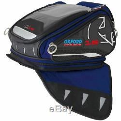 Oxford X15 Bleu Vie Moto Sacoche De Réservoir Bagages 15l Ol212 Soufflez Vente