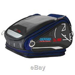 Oxford X15 Qr Vie Moto Bleu Sacoche De Réservoir Bagages 15l Ol228