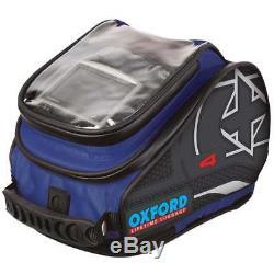 Oxford X4 Qr Quick Release Motor Bike Moto Bagages Réservoir Sac Bleu