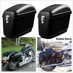 Paire Moto Side Box Bagage Tank Hard Case Sac À Selle Panniers Universal