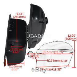 Paire Pour Moto Side Boxs Sacs Bagages Réservoir Hard Case Selle Cruiser