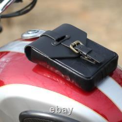 Pour Indian Chief Moto Noir Cuir Magnétique Sac Sac Sac Poche Avec Fril
