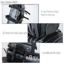 Queue Moto Bagages Arrière Pélion Sac De Réservoir Étanche Saddlebag Extensible