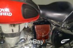 Re Classique En Cuir Magnétique Moto Réservoir De Carburant Toolbox Sac / Pochette Cum Carrybag