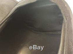 Sac De Moto De Réservoir Vintage Occasion Toile Noire En Cuir Tube Plastique