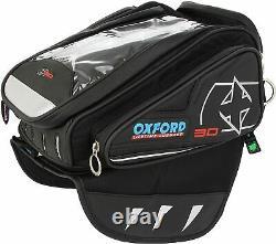 Sac De Réservoir De Moto Magnétique Oxford X30 Noir 30l