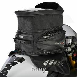 Sac De Réservoir De Moto Oxford M40r 40l Magnétique Imperméable + Couverture De Pluie Noir