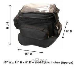 Sac De Réservoir Magnétique Pour Motocyclette 15 W Avec Une Poche Pour Téléphone Cellulaire Vao