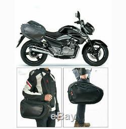 Sac Moto Selle De Vélo Casque Bagages Sacoches + Housse De Pluie Polyester Oxford