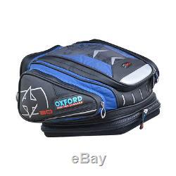 Sacoche De Réservoir À Dégagement Rapide Pour Moto Oxford X30 Lifetime Luggage, 30 Litres, Bleu