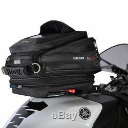 Sacoche De Réservoir À Dégagement Rapide Pour Vélo De Moto Oxford Q15r Extensible Ol216 15l - Noir