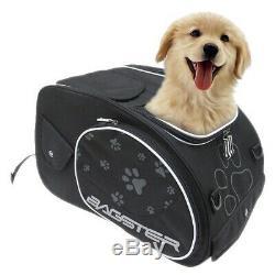 Sacoche De Réservoir Moto Moto Bagster Puppy Dog Cat Avec Bandoulière Noire