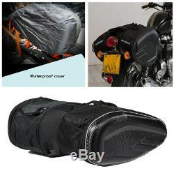 Sacs De Moto Casque De Selle Sac De Réservoir Withbands Couverture De Pluie En Fibre De Carbone Surface &