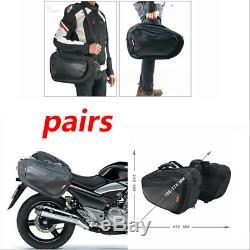Sacs De Réservoir De Casque De Bagage De Sacoches De Moto De Paire
