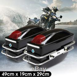 Sacs De Selle De Boîte Latérale De Moto 2pcs Cas De Queue De Réservoir Pour Honda Yamaha Suzuki