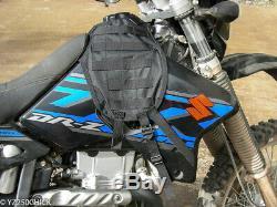 Suzuki Drz400 Molle Groupe Tactique De Moto Réservoir Couverture Vest Tour Avecun Holster