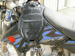 Suzuki Drz400 Molle Panel Tactical Motorcycle Tank Cover Vest Ride Witha Holster