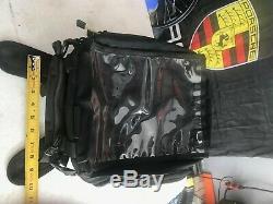 USA Fabriqué Wolfman Sac En Nylon Noir Moto Réservoir Avec La Carte Case