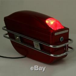 Universal Moto Boîtes Bagages Sac Side Sacoches Hard Case Selle Cruiser