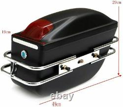 Universal Motorcycle Tail Bags Luggage Tank Tool Bag Hard Case Saddle Bags Paire