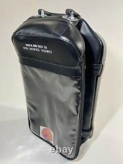 Vtg Black Corona Touring Tank Bag Moto Biker Honda Cafe Racer Japon