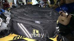 Wolfman Expandable Motorcycle Tank Bag Avec Poches Latérales Et Grande Poche De Carte