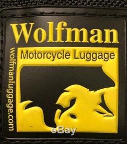 Wolfman Moto Enduro Bagages Gaz Sac De Réservoir S0303 Avec Sangles 10x6x7 Nouveau